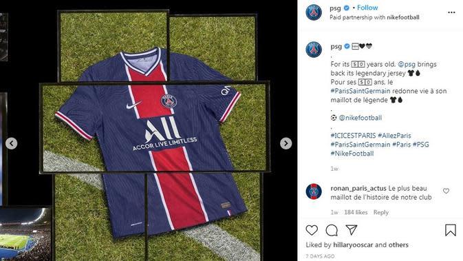 Seragam PSG. (Instagram)