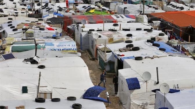Lebanon telah menerima 1,5 juta pengungsi Suriah setelah perang saudara pecah pada 2011 lalu (AP/Bilal Hussein)