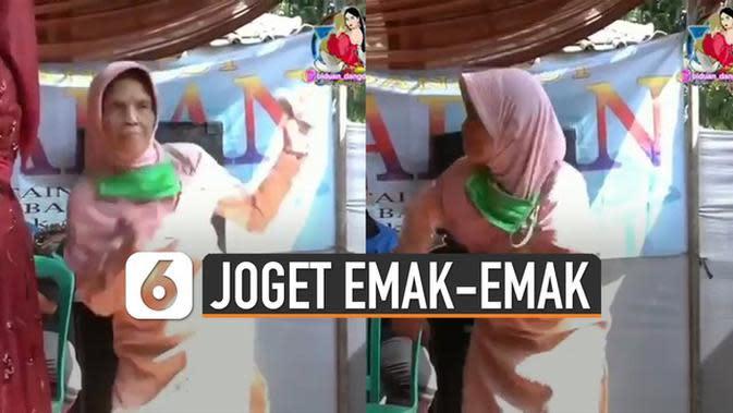VIDEO: Lincah, Emak-Emak Joget Dangdut Dikombinasikan dengan Pencak Silat