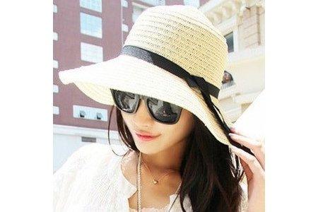 女帽可折疊遮陽帽防曬帽子春夏草帽★i-Fairies【16145】