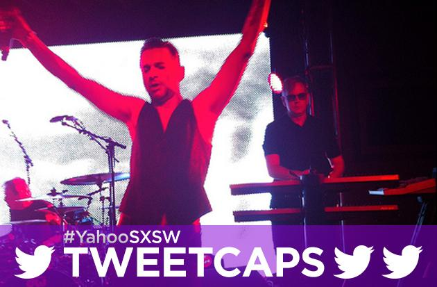 SXSW '13 Tweetcap: Depeche Mode Melts Faces with New and Classic Hits at Yahoo! HQ!