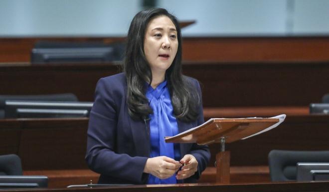 Lawmaker Elizabeth Quat raised the issue of the illegal renovations during a Legislative Council meeting. Photo: Sam Tsang
