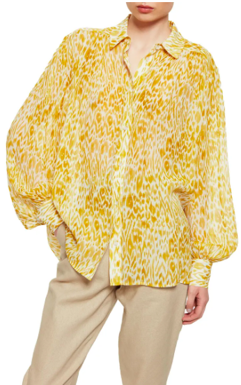 Anine Bing Caleb Silk Shirt (Photo via Nordstrom)