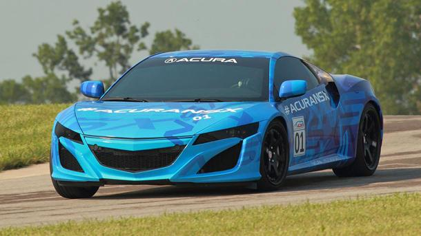 Acura NSX, America's only hybrid supercar, taking to the track