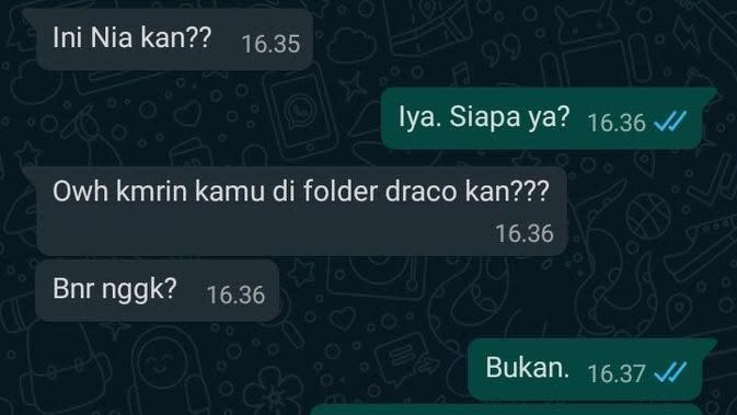 Chat PDKT (Sumber: Twitter/remahancrush)