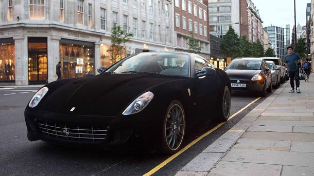 Velvet-skinned Ferrari offers Londoners a fast and fur-ious spectacle