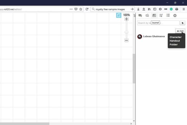 Image of Roll20 Create a Character Sheet