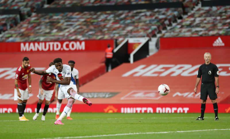 VAR drama as Zaha double earns Palace shock 3-1 win at Man Utd