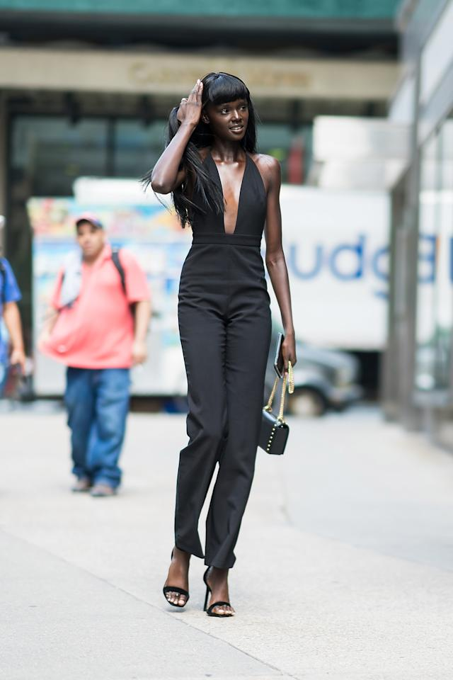 <p>Australian model Duckie Thot was left overjoyed when she found out she would walk in the iconic Victoria's Secret Fashion Show this year. Photo: Getty </p>