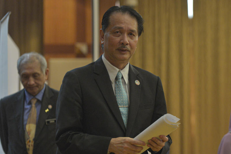 Health Director-General Datuk Dr Noor Hisham Abdullah speaks at a press conference in Putrajaya June 1, 2020. — Picture by Shafwan Zaidon