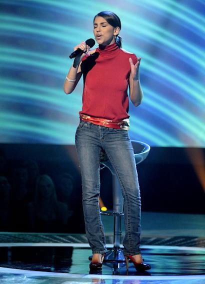 Antonella Barba performs in front of the judges on 6th season of American Idol.