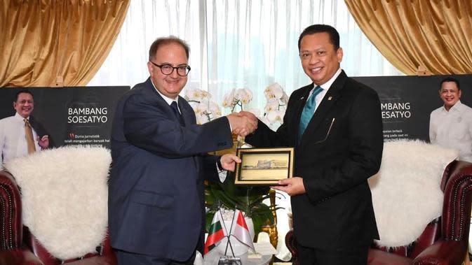 Ketua MPR RIDorong Iklim Bisnis Friendly Saat Menerima Duta Besar Bulgaria