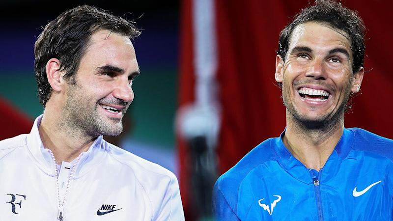 Nadal has overtaken Federer's milestone for consecutive weeks inside the world's top 10. Pic: Getty