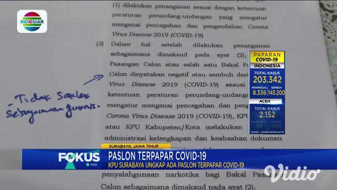 VIDEO: KPU Surabaya Ungkap Ada Paslon Terinfeksi COVID-19