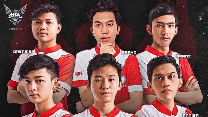 Tim Bigetron Alpha yang akan bertanding pada Mobile Legends: Bang Bang Professional League (MPL) Season 5. (Dok. ID MPL)