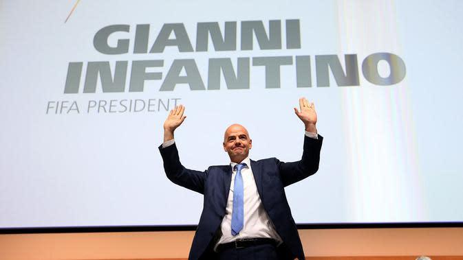 Mantan Sekretaris Jenderal UEFA, Gianni Infantino, resmi terpilih sebagai Presiden FIFA periode 2016-2021. (FIFA).