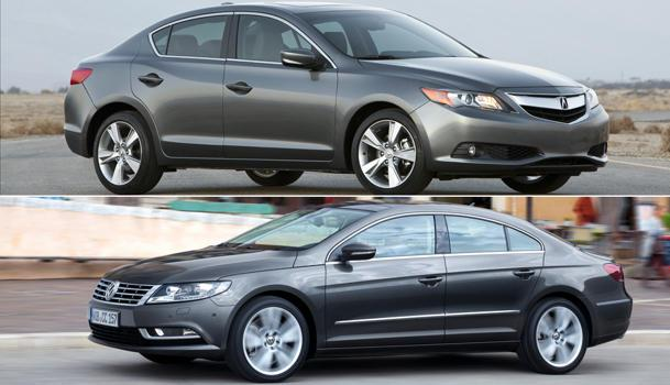 The 2013 Acura ILX vs. the 2013 Volkwagen CC, luxury lightweights: Motoramic Drives