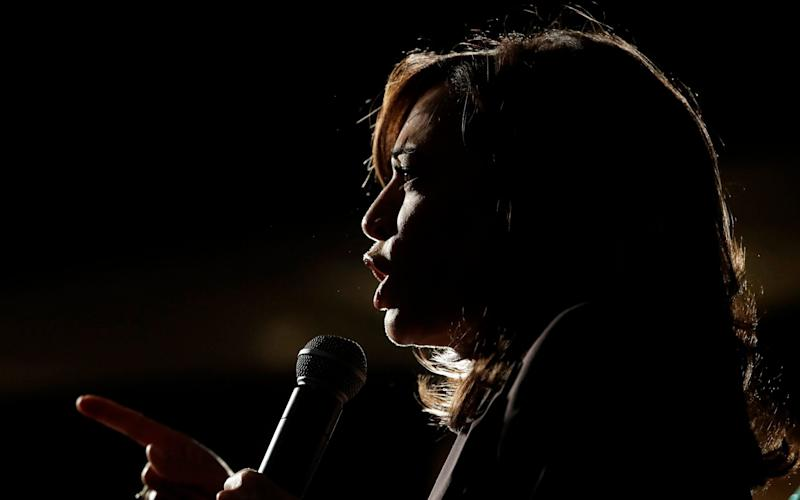 In this Saturday, June 1, 2019 file photo, Democratic presidential candidate Sen. Kamala Harris, D-Calif., speaks at an SEIU event before the 2019 California Democratic Party State Organizing Convention in San Francisco. Harris is only the second Black woman to serve in the Senate, and in 2020, a prominent contender for the vice-presidential ticket - Jeff Chiu/AP Photo