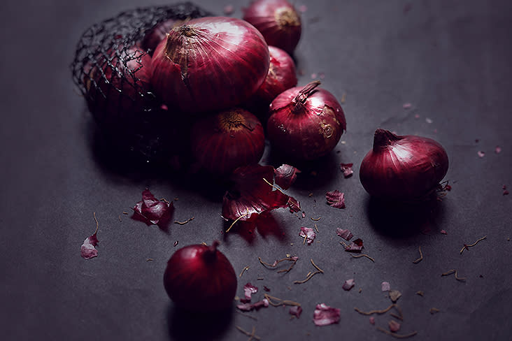 Red onions or shallots are part of the aromatics needed for a good fried rice.