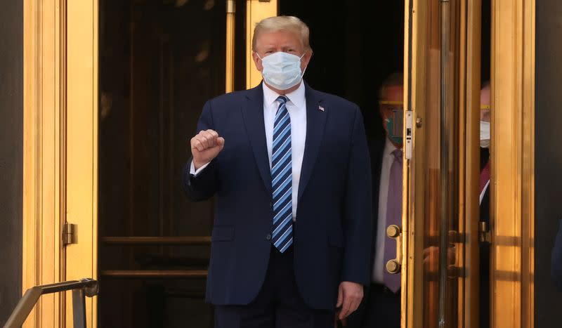 Trump leaves hospital to return to White House