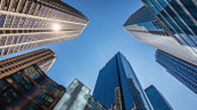 ilustrasi foto gedung perusahaan. (iStockphoto)