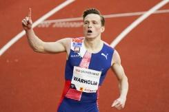 Warholm tampil sebagai bintang saat atletik kembali digelar di Oslo