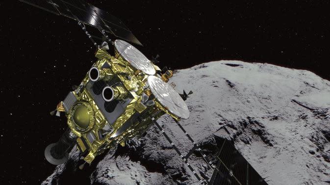 Wahana jelajah asteroid Hayabusa2 bersiap melakukan pengamatan perdana (AP/JAXA)