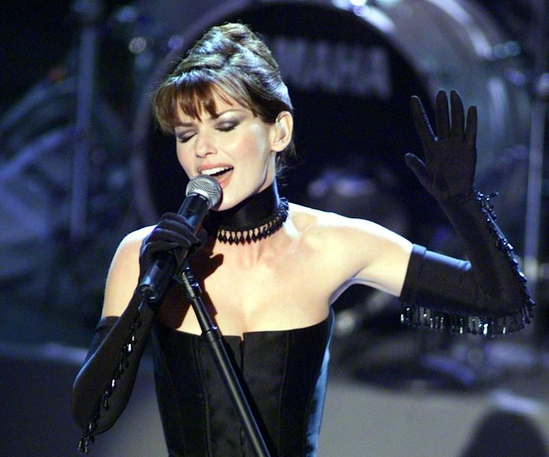 Shania Twain performs 'Man! I Feel Like a Woman!' at the 41st Grammy Awards in 1999: Getty