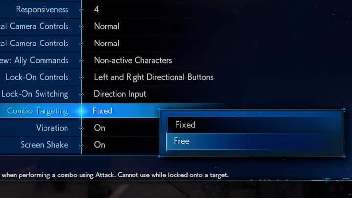 Best Final Fantasy VII Remake targeting options