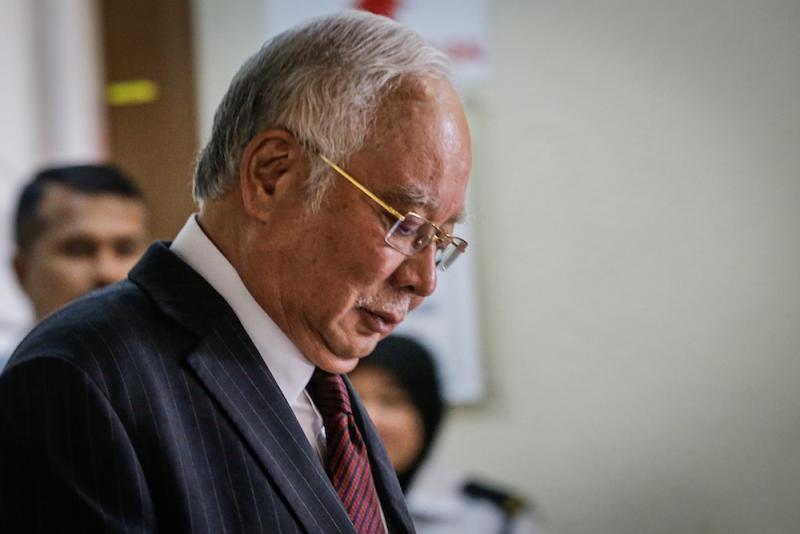 Former prime minister Datuk Seri Najib Razak is seen at the Kuala Lumpur High Court December 10, 2019. — Picture by Hari Anggara