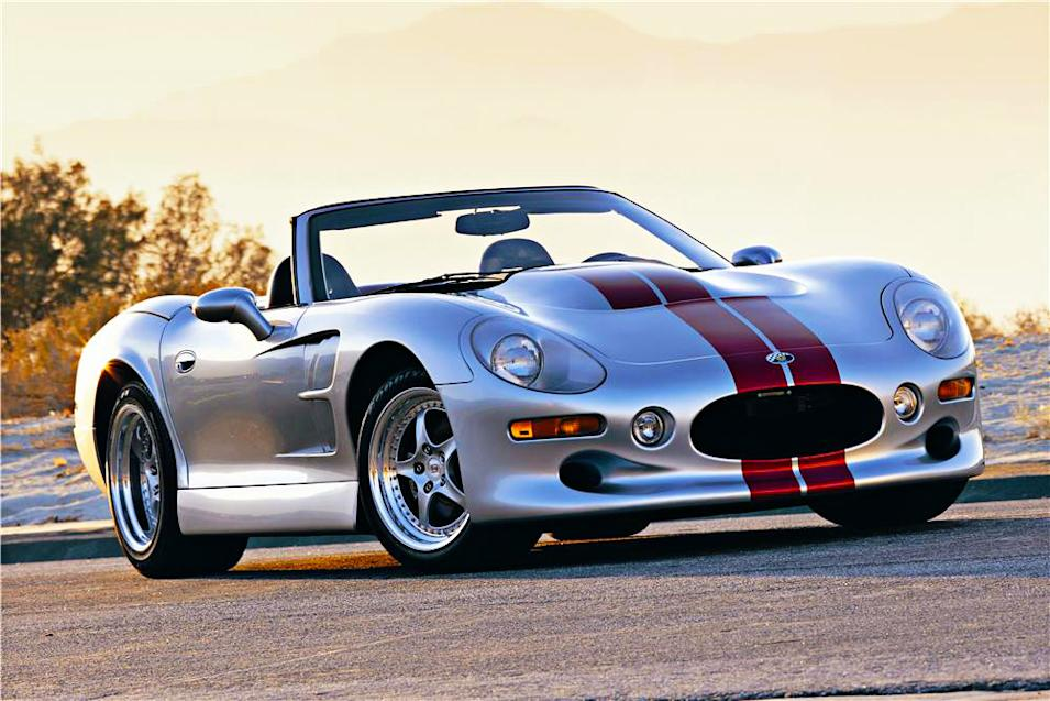 Designed and engineered by Carroll Shelby from the ground up, the Shelby Series 1 weighed a 2,650 lbs and made 320 horsepower from an Oldsmobile V-8 .