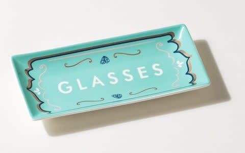 东方快车绿色陶瓷玻璃托盘-提供者:Oliver Bonas