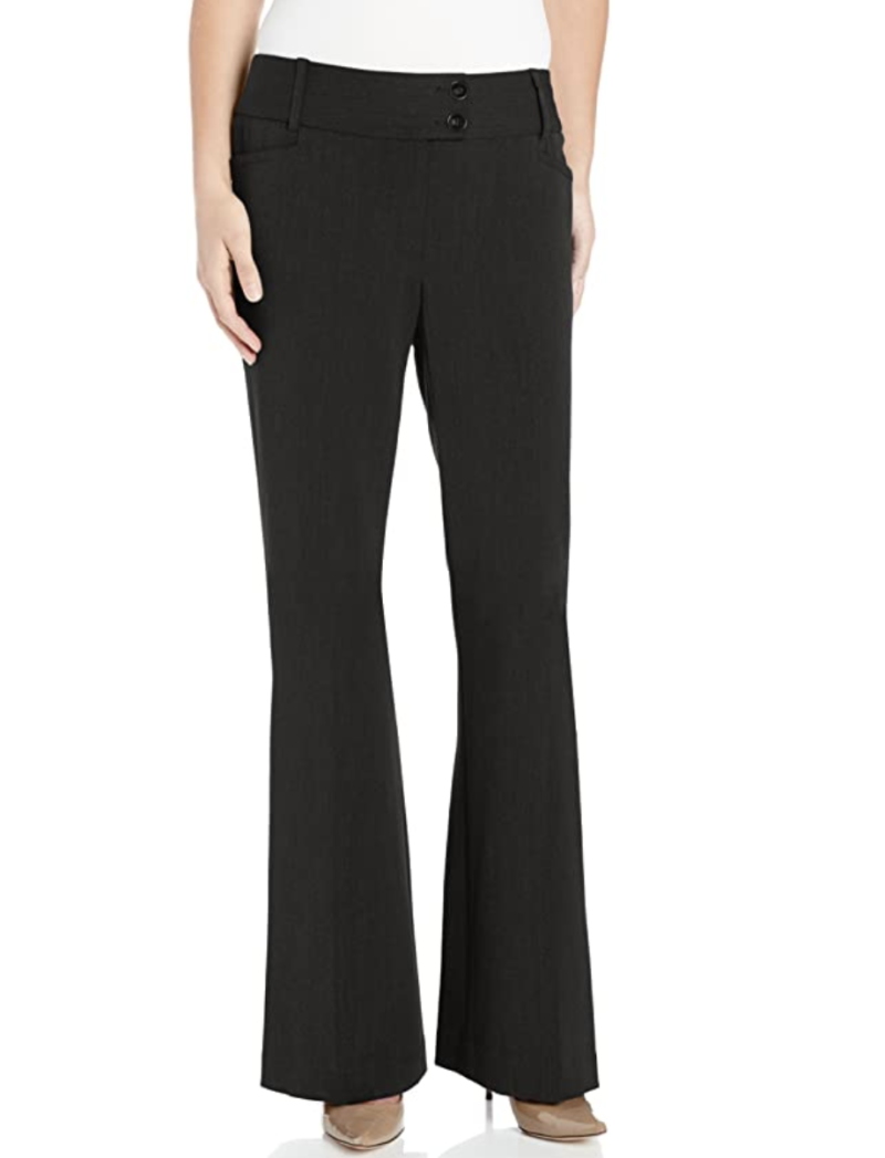 Rafaella women's petite curvy-fit Gabardine trouser. (PHOTO: Amazon)