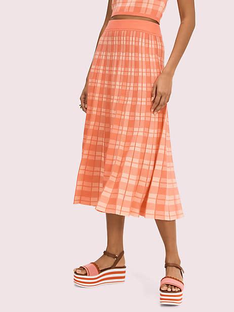 Plaid Knit Skirt