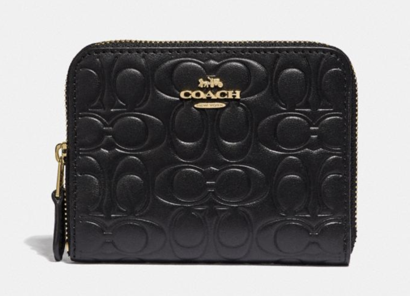 Small Zip Around Wallet in Signature Leather (Credit: Coach)