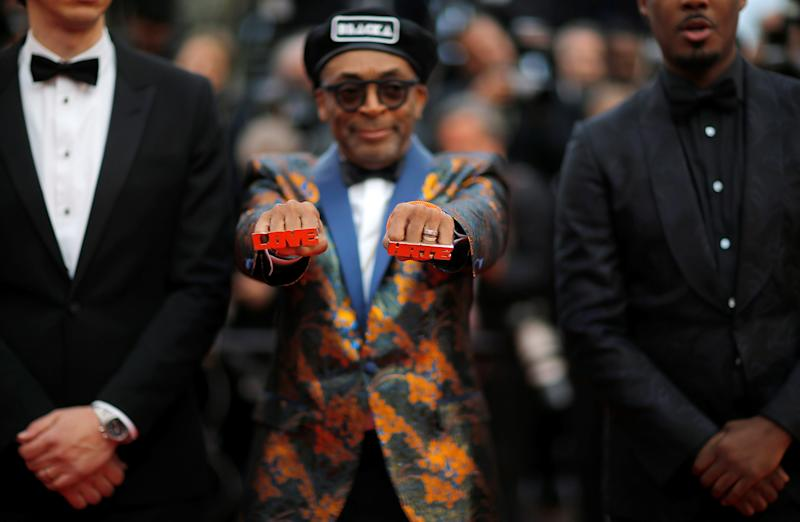 """71st Cannes Film Festival - Screening of the film """"BlacKkKlansman"""" in competition - Red Carpet Arrivals - Cannes, France May 14, 2018 - director Spike Lee presents his jewelry arrives. REUTERS/Stephane Mahe TPX IMAGES OF THE DAY"""