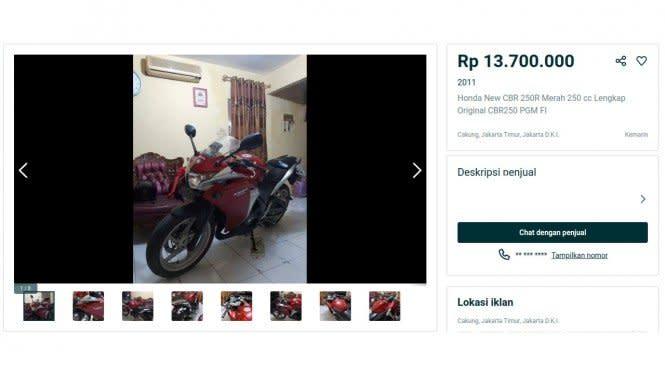 Gak Nyangka, Motor Sport 250cc Harga Bekasnya Cuma Segini