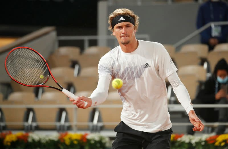 Zverev overcomes slow start to reach second round in Paris