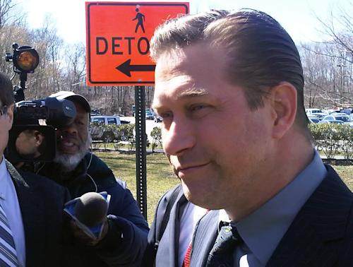 Actor Stephen Baldwin leaves Rockland County Court in New City, N.Y., Friday, March 29, 2013. Baldwin, 46, admitted in court that he failed to pay New York state income taxes for the years, 2008, 2009 and 2010. Under a plea bargain, he gets to stay out of jail, so he can make money. He can have his record wiped clean if he pays the taxes within a year.(AP Photo/Jim Fitzgerald)