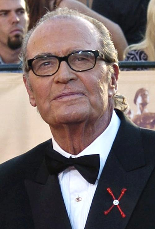 """FILE - In this Feb. 5, 2005 file photo, James Garner, arrives for the 11th annual Screen Actors Guild Awards in Los Angeles. Actor James Garner, wisecracking star of TV's """"Maverick"""" who went on to a long career on both small and big screen, died Saturday July 19, 2014 according to Los angeles police. He was 86. (AP Photo/Chris Pizzello, File)"""