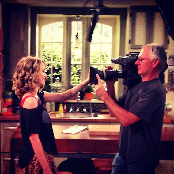 Video diary from the side… #goodluckcharlie