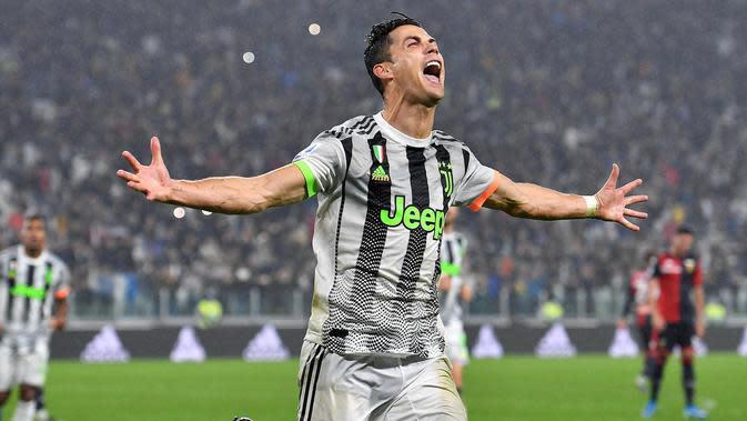 Penyerang Juventus, Cristiano Ronaldo . (Alessandro Di Marco / ANSA via AP)