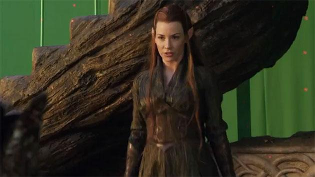 Peter Jackson Reveals Sneak Peek of Evangeline Lilly in Action in 'The Hobbit' …but What About That 'Star Wars' Script?!