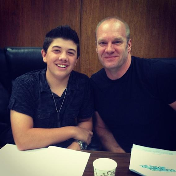 Father and son… Last #GLC table read… #goodluckcharlie