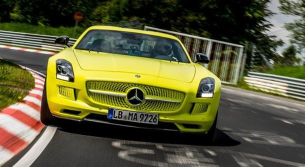 Mercedes-Benz SLS AMG Electric Drive breaks Nurburgring lap record for EVs