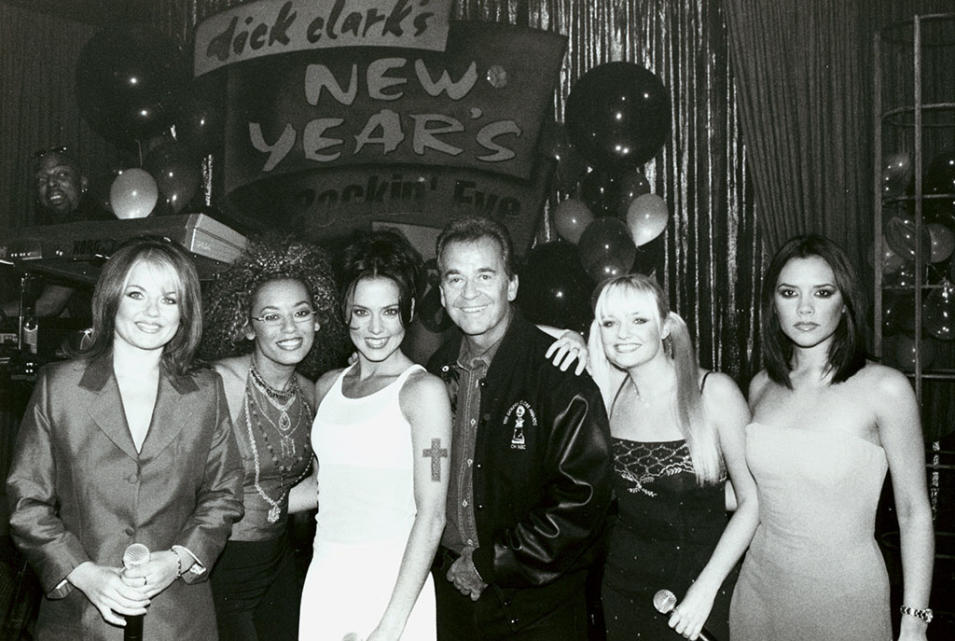 NYRE 1998 Spice Girls with Dick Clark