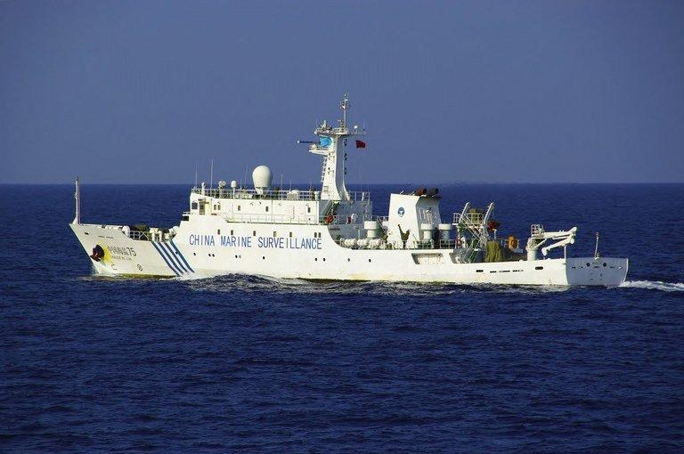 A Chinese maritime surveillance ship sails near a group of disputed islands in the East China Sea, October 25, 2012. US President Barack Obama warned China against using force or intimidation in its tense maritime disputes with its neighbors and urged a peaceful resolution