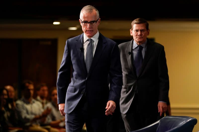 Justice Dept drops probe of ex-FBI official McCabe, a top Trump target