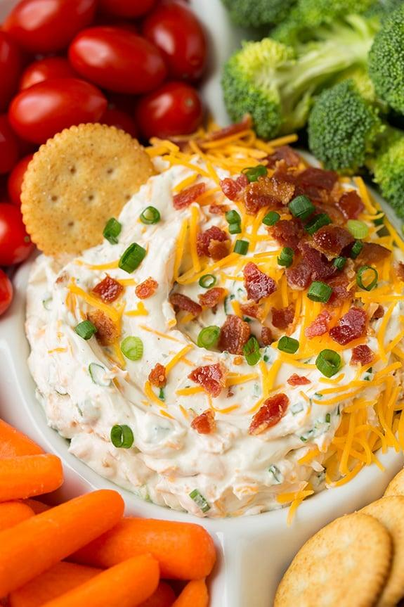 "<p>Make your dip so much better with this recipe.</p> <p><strong>Get the recipe:</strong> <a rel=""nofollow"" href=""http://www.cookingclassy.com/2015/12/bacon-cheddar-ranch-dip/"">Bacon Cheddar Ranch Dip</a></p>"