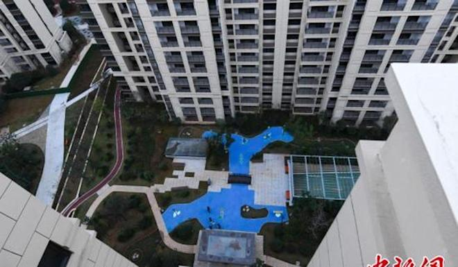 Homeowners at Beichen Central Park in Changsha, Hunan province, took delivery of their flats on the weekend. Photo: Weibo